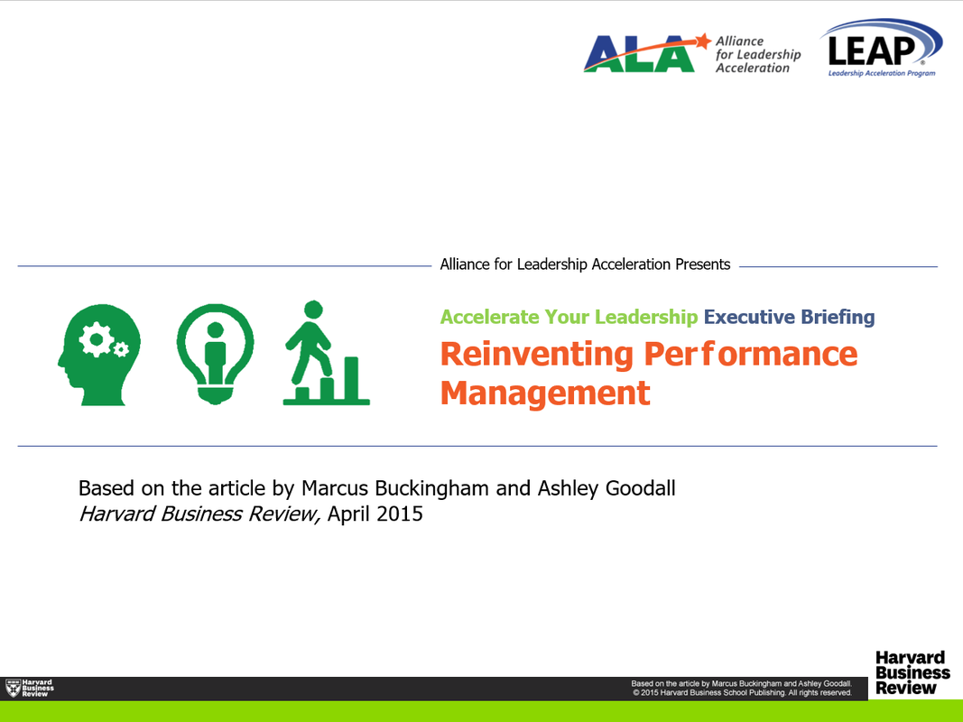 Accelerate Leadership: Reinvent Performance Management